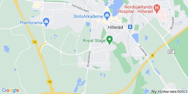 Et kort over Erhvervsskolen Nordsjælland