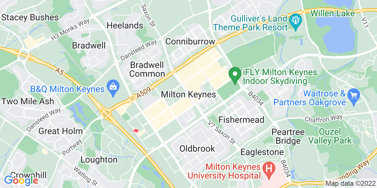 Map: Finance Manager  - Treasury position in Milton Keynes