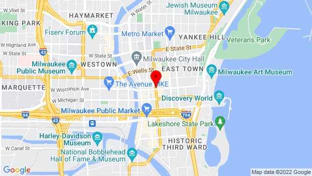 Google Map of Milwaukee, WI