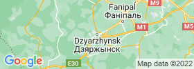 Dzyarzhynsk map
