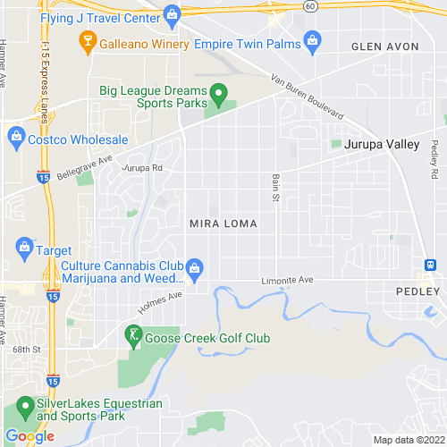 Map of Mira Loma, CA