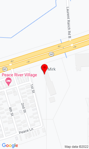 Google Map of Mirk, Inc. 2555 State Road 60 E, Bartow, FL, 33830,