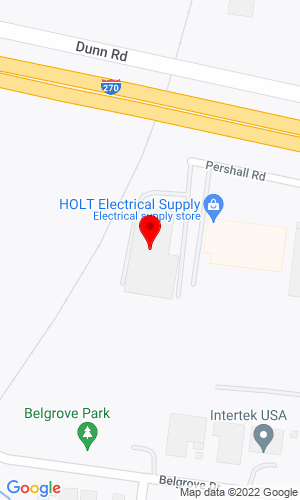 Google Map of Mississippi Valley Equipment Company 1198 Pershall Road, St. Louis, MO, 63137,