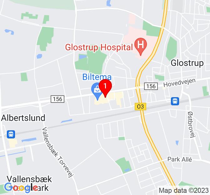 Kort over Mjølnersvej 4-8, Glostrup