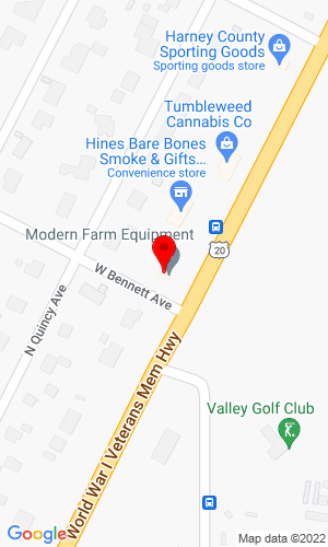 Google Map of Modern Farm Equipment 302 E Hwy 20, Gordon, NE, 69343
