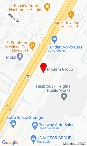 Google Map of Modern Group Ltd. 112-128 Route 17 North, Hasbrouck Heights, NJ, 07604