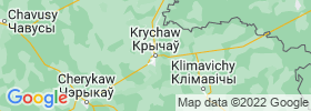 Krychaw map