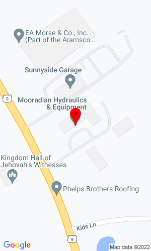 Google Map of Mooradian Hydraulics 1190 US Route 9, Castleton, NY, 12033