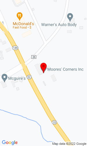Google Map of Moore's Corner 8626 New York 22, Granville, NY, 12832