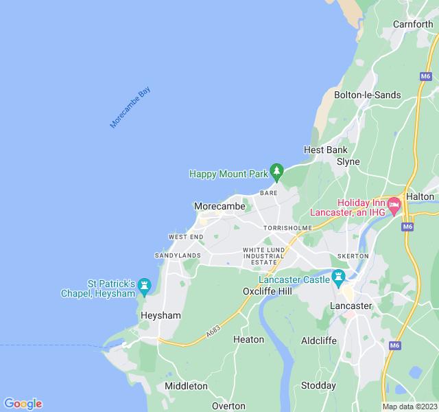 Website Designer Morecambe Google map of location