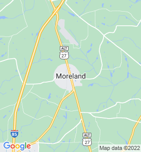 Moreland GA Map
