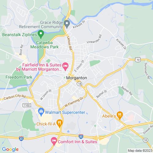 Map of Morganton, NC