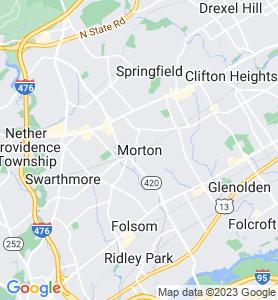 Morton PA Map