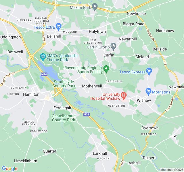Website Designer Motherwell Google map of location