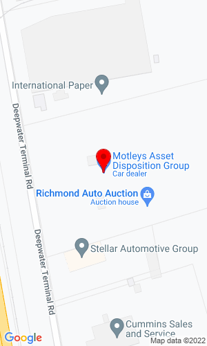 Google Map of Motleys Asset Disposition Group 3600 Deepwater Terminal Road, Richmond, VA, 23234