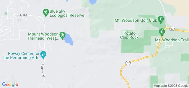 Mount Woodson, Poway no condado de San Diego, Califórnia, EUA