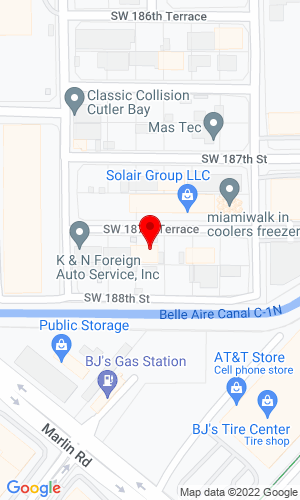 Google Map of Mr. Lift Truck Inc. 10450 SW 187th Terrace, Miami, FL, 33157,