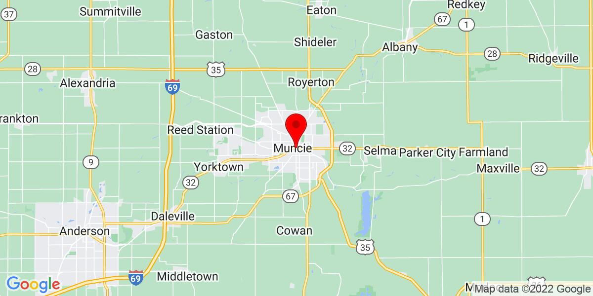 Google Map of Muncie,IN