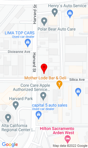 Google Map of Municipal Maintenance Equipment 2360 Harvard Street, Sacremento, CA, 95815