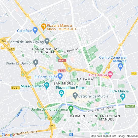 Mapa redondo Murcia