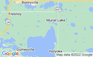 Map of Muriel Lake Campground