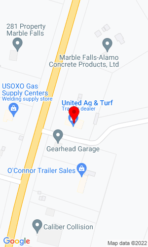 Google Map of Mustang Equipment 3053 So. US Hwy 281, Marble Falls, TX, 78654