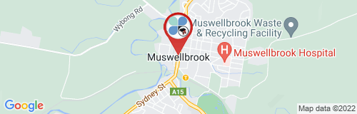 Muswellbrook google map