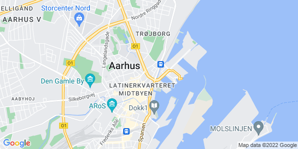 Et kort over Arkitektskolen Aarhus