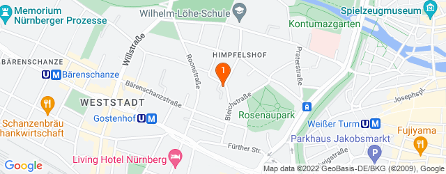 Google Map of Nürnberg, Himpfelshofstr 7