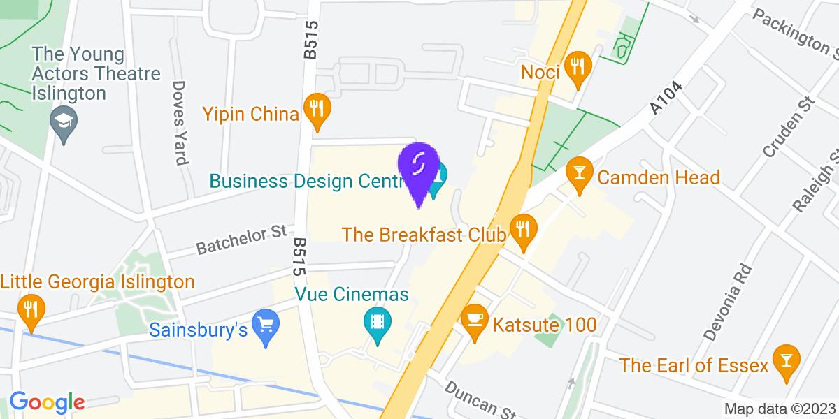 Google Map of N1 0QH