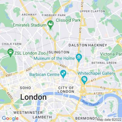 Regent's Canal (Hackney section) Location