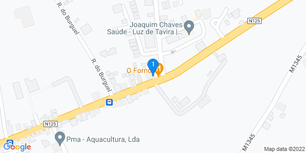 Google Map of N125 155, 8800-109 Luz de Tavira Tavira