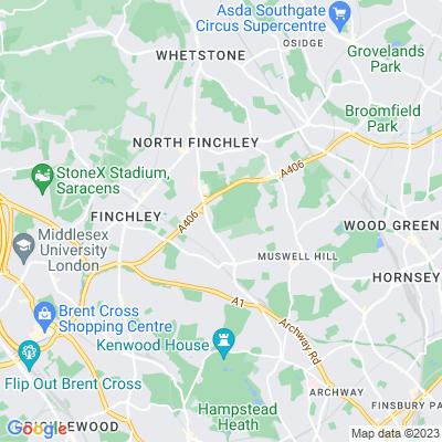 St Pancras and Islington Cemetery Location
