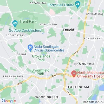 Winchmore Hill Green Location