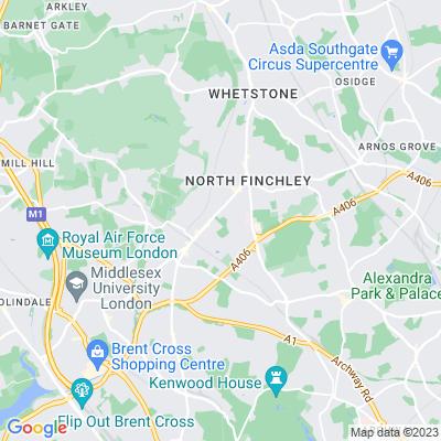 Victoria Park, Finchley Location
