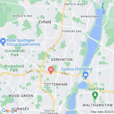 All Saints' Churchyard, Edmonton Location