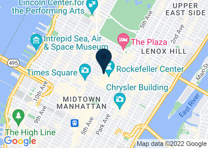 Map of NBC headquarters, 30 Rockefeller Plaza, New York, NY 10112, United States