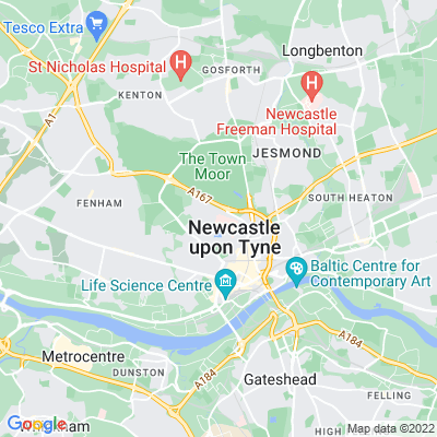 Leazes Park Location