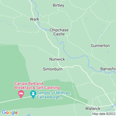 Nunwick, Simonburn Location