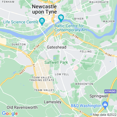 Saltwell Park Location