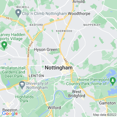 Nottingham Arboretum Location