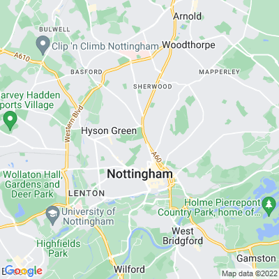 Church Cemetery, Nottingham Location