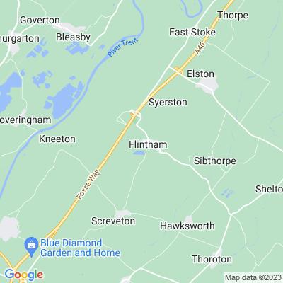 Flintham Hall Location