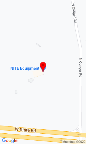Google Map of NITE Equipment 2388 N Conger Road, Pecatonica, IL, 61063,