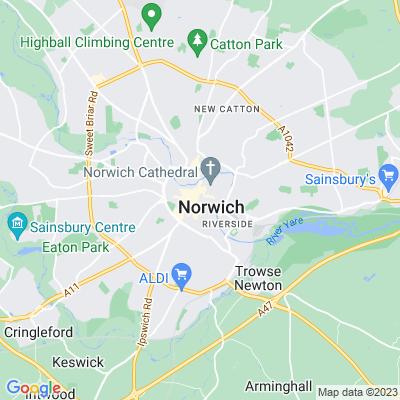 Memorial Gardens, Norwich Location