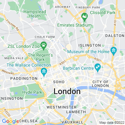 Euston Square Gardens (East and West) Location