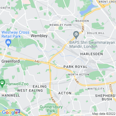 Twyford Abbey Location