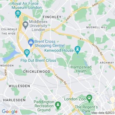 Golders Hill Park Location