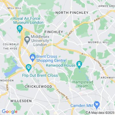 Willifield Way Open Space, Hampstead Garden Suburb Location