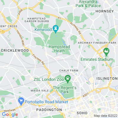 Belsize Wood Nature Reserve and Russell Nurseries Location